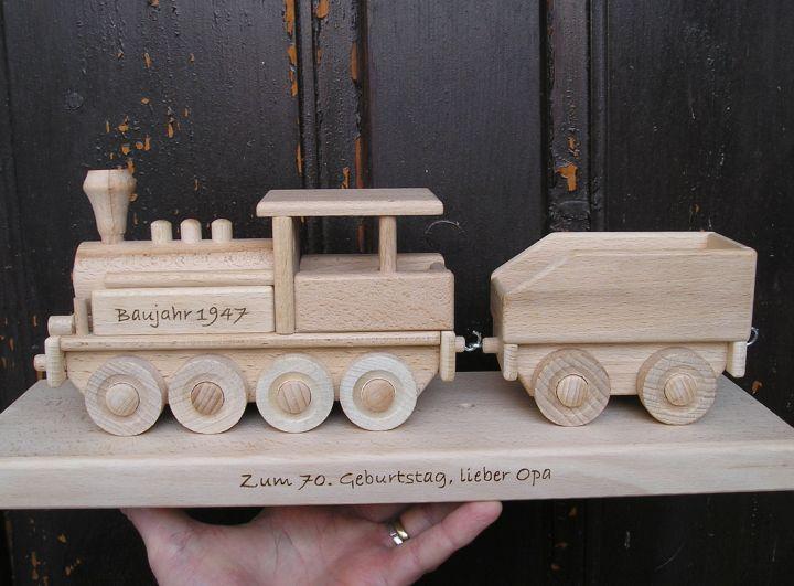 Parná lokomotíva, vláčik darček