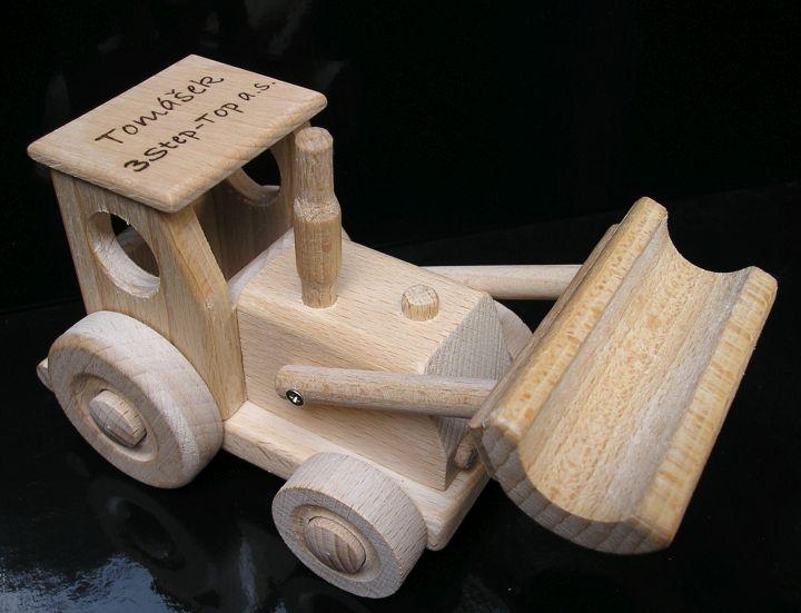 hračka trator s radlicou a náklad autíčko