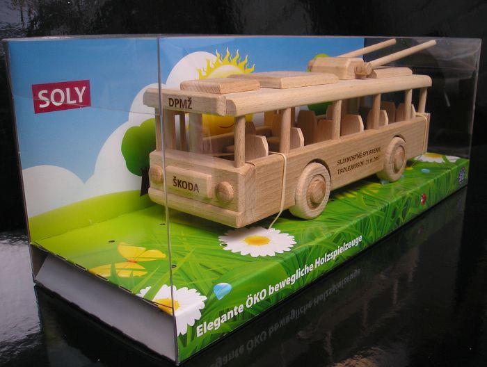 Trolejbusy drevená hračka, drevené darčeky