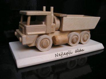 Nákladné autá Tatra a buldozér z dreva drevené hračky