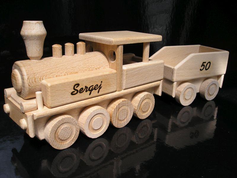 Drevené vláčiky | parná lokomotíva | drevené hračky pre chlapcov