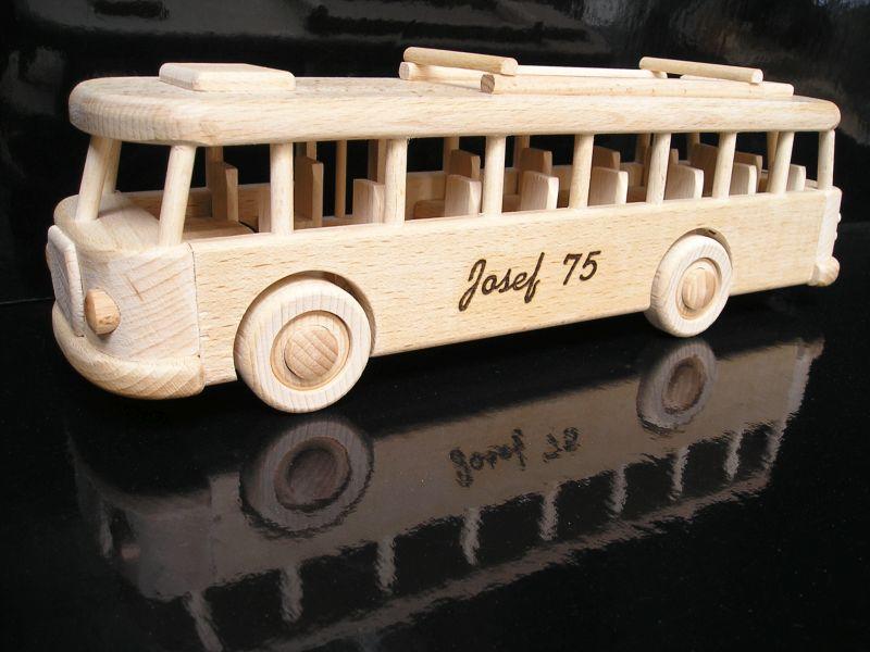 Darček pre vodičov autobusu, drevená hračka autobus