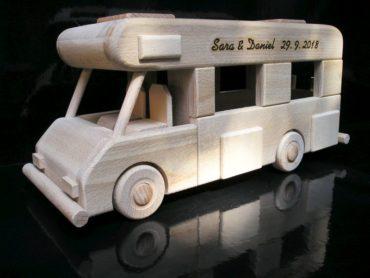 Karavan, obytné vozy, drevená hračky darček.