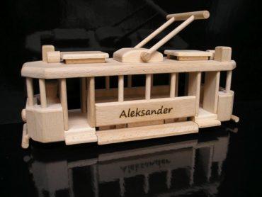 električky | drevené darčeky pre vodičov, drevená hračka tramvaj