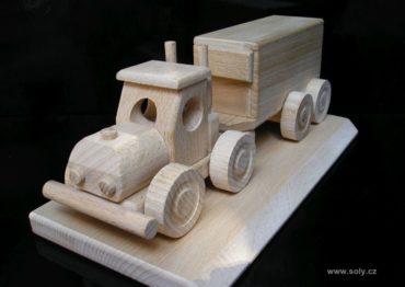 Truck TIR darčeky pre vodiča nákladiaku, drevený kamión