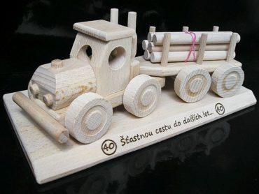 Lesné autotahač, nákladné auto, kamióny drevené hračky