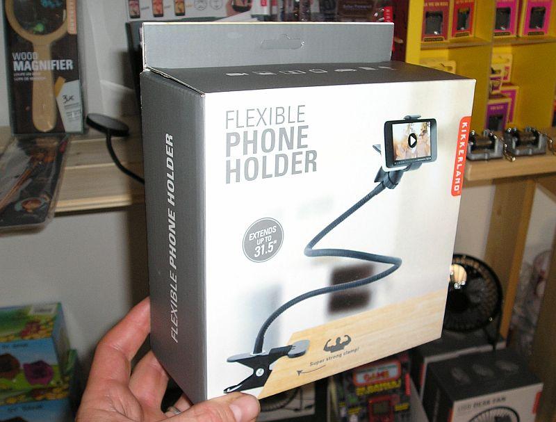 Ohybný držiak na chytrý mobil, Kikkerland