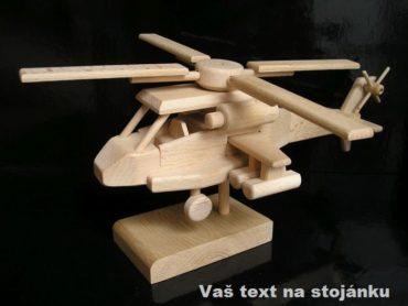 Vojenský vrtuľník, drevený darček   drevené darčeky a hračky