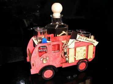 Darčekové fľaše na alkohol požiarnik, hasič