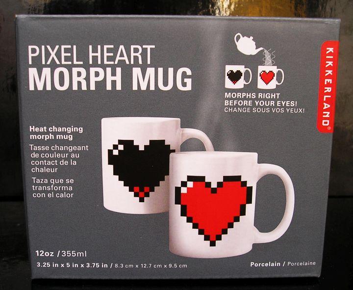 Samozafarbovacie hrnčeky na čaj, kávu srdce, zafarbuje sa pri zahriatí