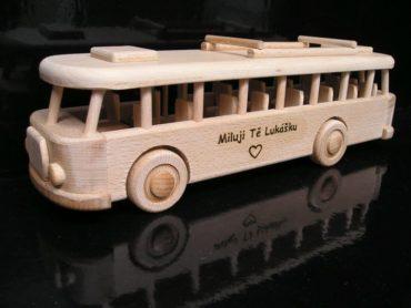 Drevené hračky, darčeky - autobus RTO