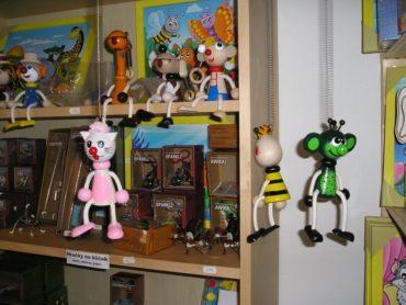 Drevený Ferdo mravec | hračka na pružine | drevené hračky