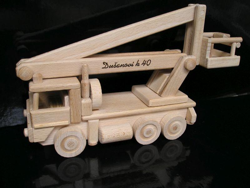 vysokozdvižná plošina | vozidlo drevený darček, hračka.