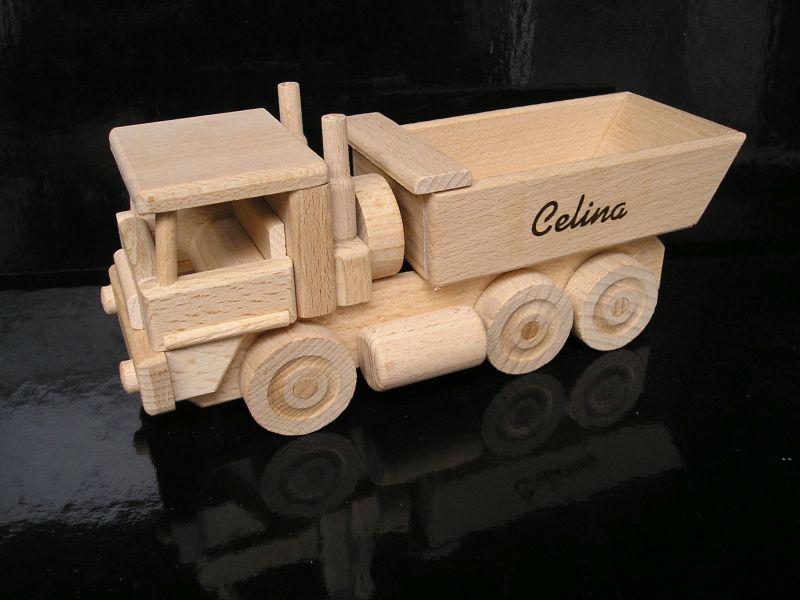 Drevené nákladné auto Tatra | drevené hračky | darčeky pre vodičov