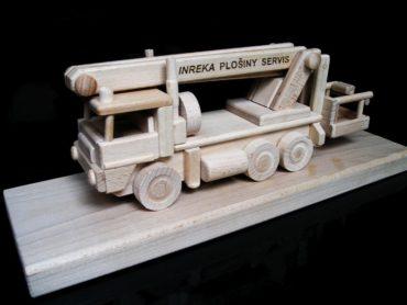 Montážne auto plošina, vysokozdvižná | drevený darček, hračka