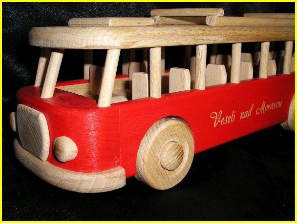 Drevený autobus, darčeky pre vodiča, drevené darčeky