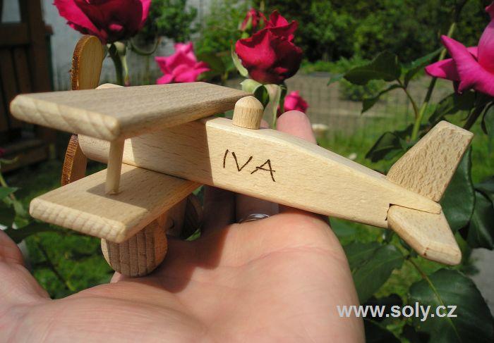Malé lietadlo, drevené letadlo hračka