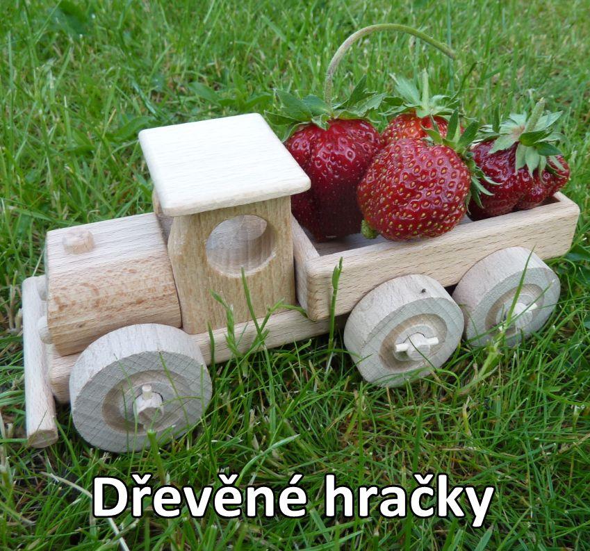 Drevené hračky, nákladné auto + buldozér
