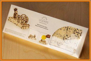Motor, funkčné technické stavebnice z dreva, drevené hračky