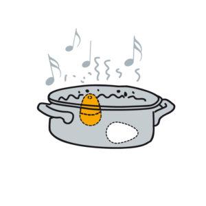 Kuchynská minútka pre varenie vajec   hudobné varič vajec BeepEgg Classic
