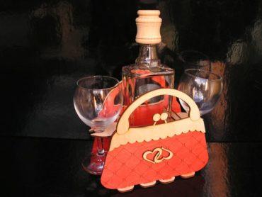 Darček kabelka taška flaša pre ženu dámu