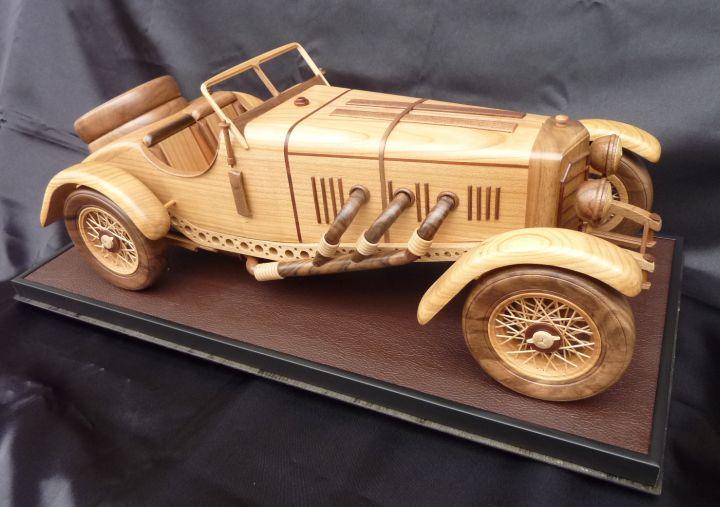 Mercedes SSKL drevené modely vozidiel