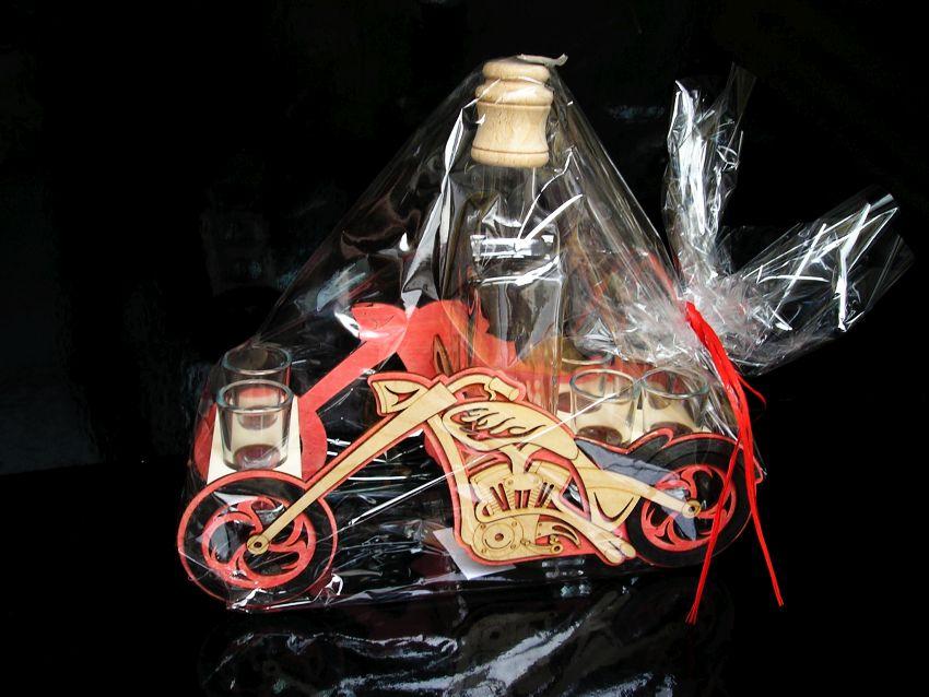 Darček fľaša pre motorkárov   MOTORKY chooper