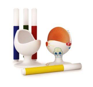 Prísavné stojančeky | sada | kalíšky na vajcia pre deti na maľovanie