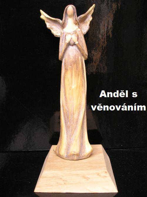 Anjel soška anjelik, darček pre babičku, mamičku, dcéru s možnosťou VENOVANIA