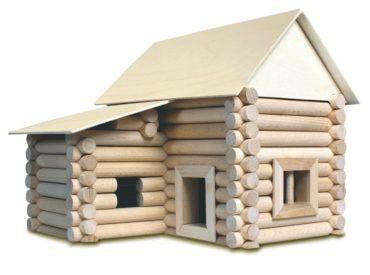Stavebnica z dreva pre 17 rôznych budov a domov   drevené kocky