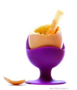 Stojanček, kalíšok na varené vajcia s prísavkou, silikónové formy