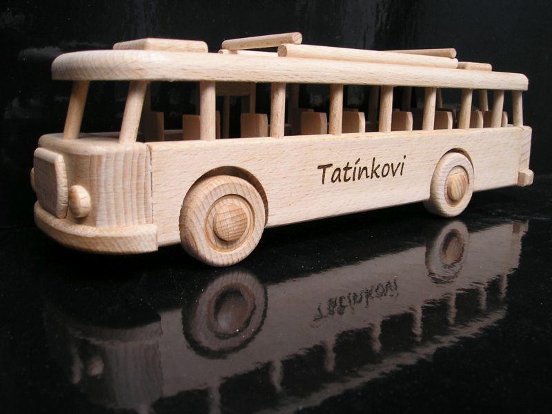 Autobus z dreva, drevené hračky, darček pro vodiča autobusuDIGITAL CAMERA
