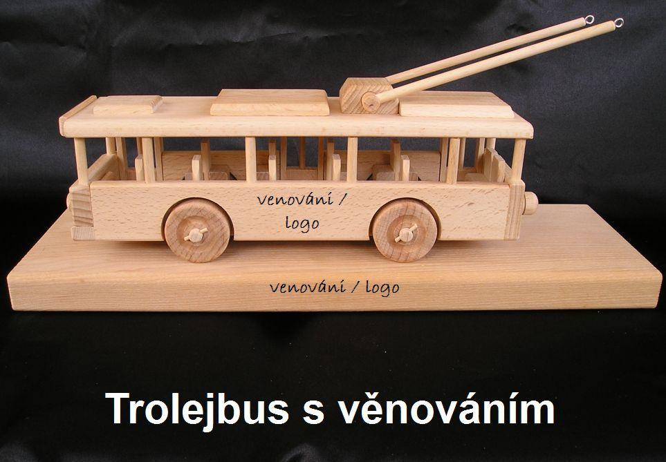 Trolejbusy drevené hračky, drevené darčeky