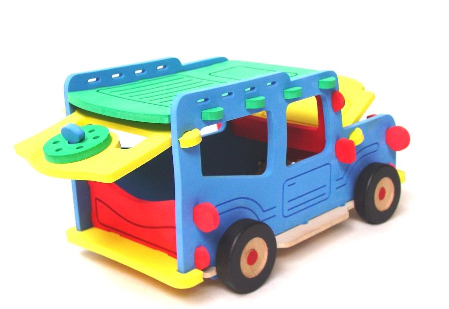 Obrovská stavebnica auto Jeep Offroad, veľká penová hračka-puzzlock-off-road