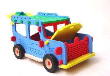 Obrovská stavebnica auto Jeep Offroad, veľká penová hračka