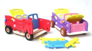 Obrovská stavebnica auto Jeep, veľká penová hračka