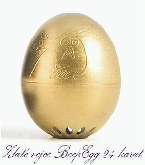 Zlaté vajcie BeepEgg GOLD 24 kar.,varič vajec | minútka pre varenie vajíčok