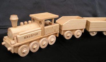 Nákladný vagón pre parnú lokomotívu   drevené hračky