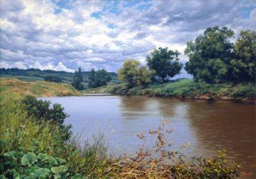 priroda krajina rieka reprodukcie obrazov drevené ramy