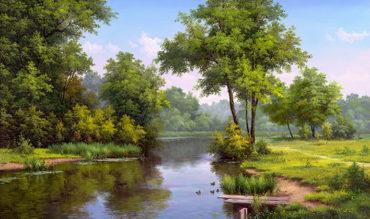 priroda krajina reprodukcie Obrazy na stenu