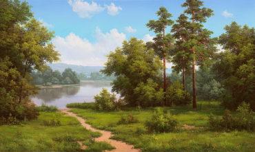 priroda krajinaReprodukcie obrazov slávnych umelcov