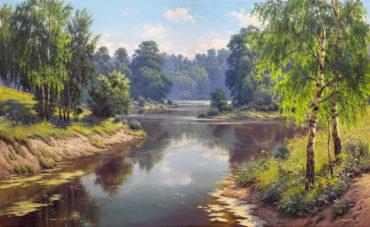 priroda krajina reprodukcie obrazov drevené retro rámy