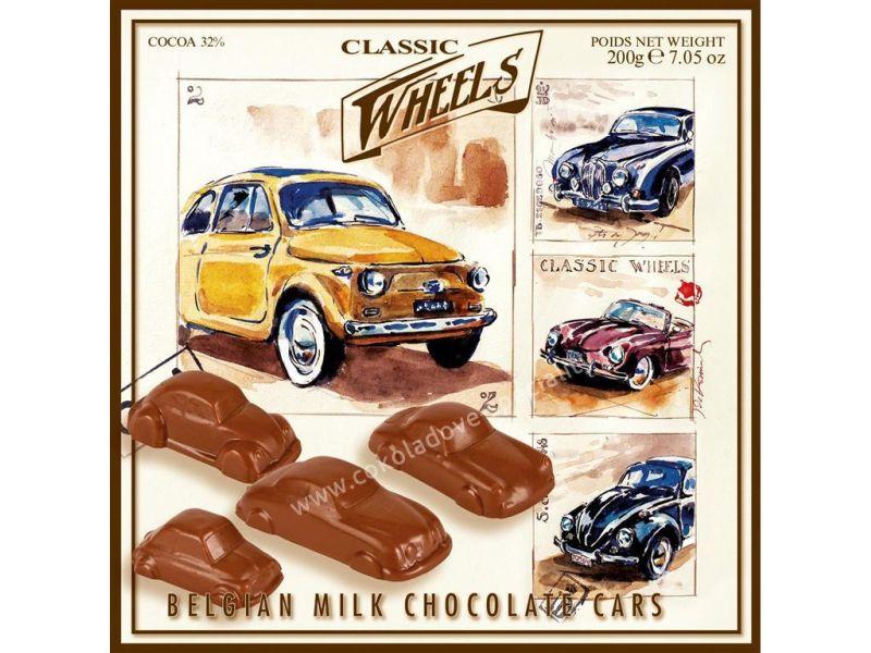 Classic Wheels   Čokoládová Mini Autá 200g   Belgická čokoláda, cukríky