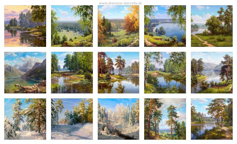 Reprodukcia obrazov ruských a východných maliarov krajin