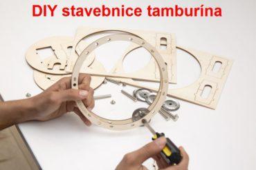 Tamburína DIY detská stavebnica, hudobné nástroje pre deti