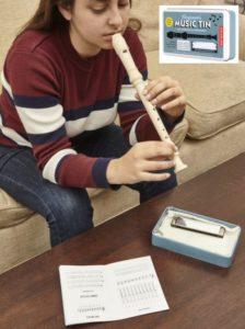 Hudobné nástroje pre deti detská píšťala a fúkacia harmonika