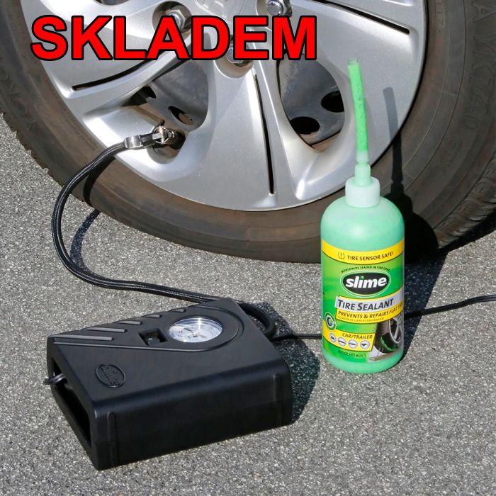 Rýchla oprava autodefektu   opravná sada   prepichnuté pneumatiky