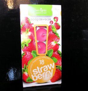 18 ks Čajová vonná sviečka vôňa jahody