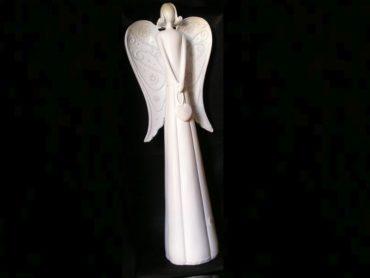40 cm vysoký biely anjel, bytové dekorácie