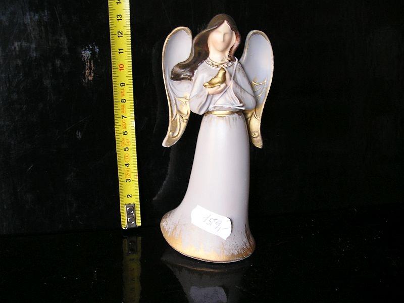 Anjel s holubom, sošky keramacké dekorácie